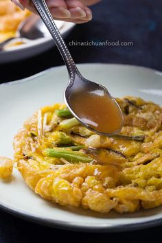 Savory and comforting fresh shrimp egg foo young, developed from basic Cantonese egg foo young. Egg Recipes, Asian Recipes, Cooking Recipes, Healthy Recipes, Ethnic Recipes, Asian Foods, Chinese Recipes, Chinese Desserts, Savoury Recipes
