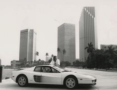 miami vice | ... Ferrari x Sonny x On Set Of Miami Vice with Miami Skyline in the Back
