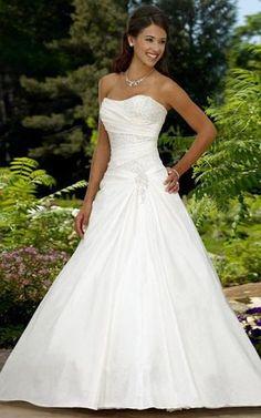 9b2831a282 Abito da Sposa con Applique Bassa Senza Maniche con Piega con Perline Buy  Wedding Dress,