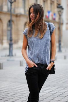 Boots: Balenciaga, Bag: Proenza Schouler, T-shirt: Topshop, Pants: Zara (Similar)    FACEBOOK/BLOGLOVIN/TWITTER    I love biker leather pants; grunge, rock, edgy style and they go with everything! I j