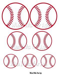 Printable Baseball Image by WhenIWasYourAge on Etsy, $2.00
