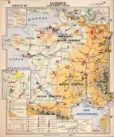 Vintage French school map