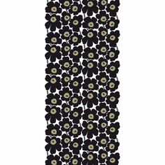 Marimekko Fabric - Cotton - Pieni Unikko 2 030 Black – Kiitos living by design