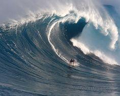 Surfer Jaws Maui large blue wave fine art by photobysimone on Etsy, $54.00