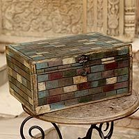 Reclaimed wood box, 'Jodhpur Treasure'