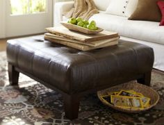 The Most Beautiful Coffee Tables Ever Via Brit Co Interior - Leather covered coffee table