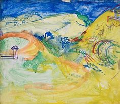 Hans Hofmann, In the Hollow, 1936, casein on panel, 20 X 24 inches