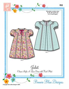 "Bonnie Blue Patterns #152, ""Juliet"""