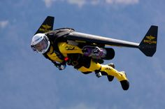 Yves Rossy - the jetman This thing powered by hydrogen  in form of hydrite