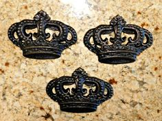 Set of 3 Royal Crown Wall Plaques Wall Decor Old World