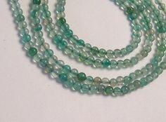 2mm Green Fluorite Tiny Semiprecious Smooth Round Beads