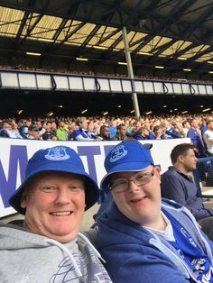 A DISABLED Everton fan left traumatised after fans verbally abused him at the match has hung up his blues shirt. Chris Howgate, 22, and his dad Dean, 43, at a Everton v Manchester United match a few weeks ago (unrelated)