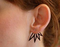 Unikke øreringe i krympeplast og sølv