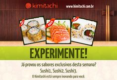 Facebook campaign to Kimitachi, sushi delivery.