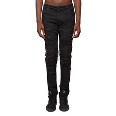 Gil biker jeans from the S/S2017 Marcelo Burlon County of Milan collection in black