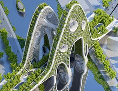 Paris Smart City 2050 with 8 Plus-Energy Towers | Vincent Callebaut