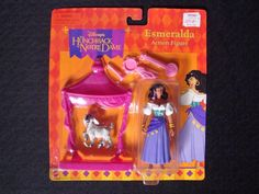 RARE Vintage Sealed on card  Disney Hunchback of Notre Dame Figure Esmeralda #Mattel