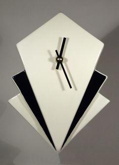 Echo Of Deco Art Deco Inspired Ceramic Manhattan Wall Clock