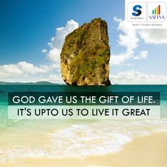 #Happy #Wednesday !!!! Have a great day ahead....  #thoughtoftheday #SalarpuriaSattva #SattvaGroup  God gave us the #gift of #life; it's upto us to live it great.  #Live your #life #happily at Salarpuria Sattva homes.  #god #love #life #home #family