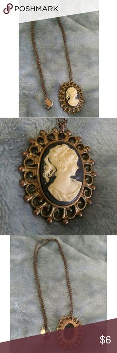 """Vitage cameo necklace Vintage came necklace. 12"""" chain with added lock ring because the original one broke. Jewelry Necklaces"""