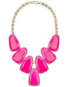 Pretty in pink statement necklace!  By Kendra Scott