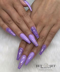 sparkling;Pointed;matte;acrylic;long;glitter;jewels For other models, you can visit the category. For more ideas, please visit our … Violet Nails, Purple Acrylic Nails, Summer Acrylic Nails, Best Acrylic Nails, Purple Nails With Glitter, Purple Stiletto Nails, Purple Nail Art, Nails Acrylic Coffin Glitter, Purple Chrome Nails