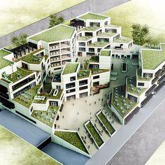 Biophilic Architecture, Green Architecture, Concept Architecture, Futuristic Architecture, Residential Architecture, Amazing Architecture, Landscape Architecture, Mix Use Building, Building Design