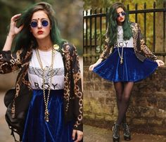 ROYAL BLUE (by Emi Coco ☽☯Δ✝) http://lookbook.nu/look/4244287-ROYAL-BLUE