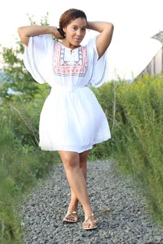 White embroidered dress from #SheInside. More pics on the blog! #fashion #style