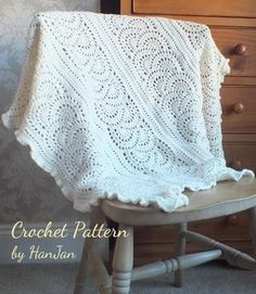 My best friend has just had the most beautiful baby girl Elsie - this blanket is designed with love for her.Using a tricky looking but easy to make panel pattern, Elsie's Soft Wave Blanket is a mix of wave motifs joined in opposite directions to get a scalloped edge finished off with a gentle ruffle border.The finished blanket measures 110cm square at the widest points and so is perfect as a wrap, shawl, cover equally suitable for special occasions or every day.Materials:350g of Sublime…