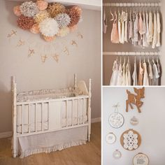 baby nursery themes for girls | Kelli used a muted shade of peachy pink against soft gray walls to set ...
