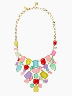 Kate Spade - gumdrop gems bib necklace on Wanelo
