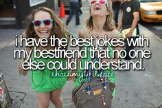True that. If anyone heard us talk we'd be put in a mental hospital. haha so true @KailaPolak