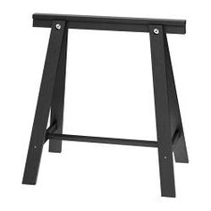"Love these legs for a makeup vanity with glass top! ODDVALD Trestle, black - 27 1/2x27 1/2 "" - IKEA"