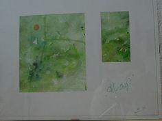"""Hoop-1, aquarel op papier, 2010: Afkomstig uit de serie """"Hoop"""", geschilderd t.g.v. de 24-uurs """"Samenloop Voor Hoop"""", 26-27 juni 2010 te Oosterhout t.b.v. KWF Kankerbestrijding (verkocht)"""
