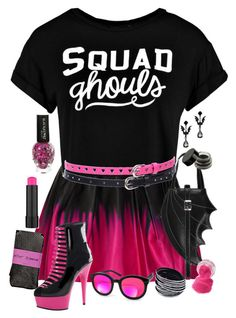 """Draculaura Mall Day"" by adventuretimekitty ❤ liked on Polyvore featuring Milly, Boohoo, Maybelline, ASOS, AQS by Aquaswiss, Betsey Johnson, MonsterHigh and draculaura"