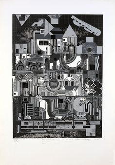 Eduardo Paolozzi, 'Calcium Light Night: From Early Italian Poets' Screenprint in colours, Eduardo Paolozzi, Interesting Drawings, Gcse Art, Screen Printing, Sims, Carving, Concept, Colours, Gallery