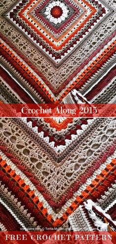 Crochet Along Throw Free Crochet Pattern   DIY