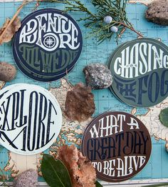 Adventure Assorted Stickers, Set of 4 by Vicarel Studios on Scoutmob