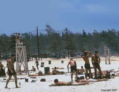 China Beach R Center, Republic of South Vietnam June 1968. http://www.pinterest.com/jr88rules/vietnam-war-memories/ #VietnamMemories