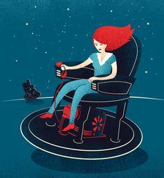 Editorial Illustrations: Part II by Tang Yau Hoong, via Behance