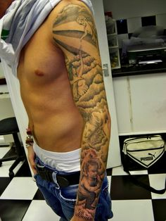 sleeve tattoo | Religious Sleeve Tattoos – Designs and Ideas