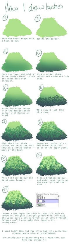 How I draw bushes by the-searching-one.deviantart.com on @deviantART