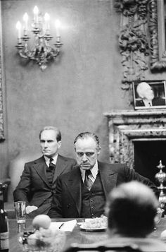 Marlon Brando and Robert Duvall in The Godfather