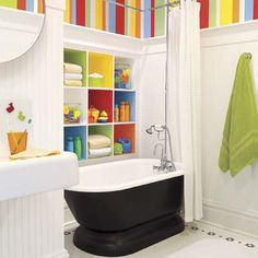 A light and bright kid-friendly bath on a budget. | Photo: Alise O'Brien | thisoldhouse.com