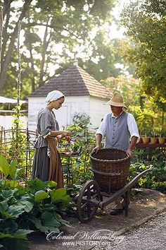 Residents of Williamsburg have maintained gardens for hundreds of years. <-- It's a pic of me!