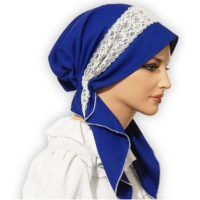 This Pretied scarf tichel bandanna snood is easy to put on and elegant to wear and treasure. Muslim Women, Blue Lace, Womens Scarves, Put On, Royal Blue, Sewing Crafts, Winter Hats, Elegant, Lady