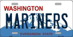 Mariners Washington State Background Metal Novelty License Plate