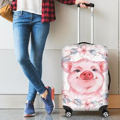 Mini Potbelly Pigs, Cute Luggage, Cute Couple Art, Polyester Spandex Fabric, Mini Pig, Flying Pig, Cute Pigs, Little Pigs, Shoulder Handbags
