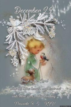 December 22 Christmas Blessings, Christmas Quotes, Christmas Crafts, Christmas Items, Merry Christmas, December Calendar, December 22, Daily Scripture, Scripture Verses